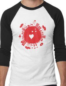 planet in love Men's Baseball ¾ T-Shirt