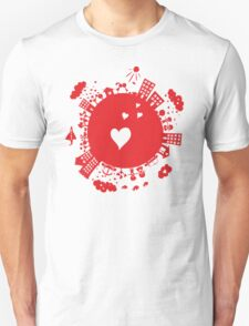 planet in love Unisex T-Shirt