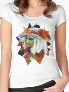 Curly white hair Women's Fitted Scoop T-Shirt
