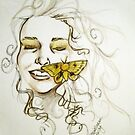 yellow moth by Xtianna