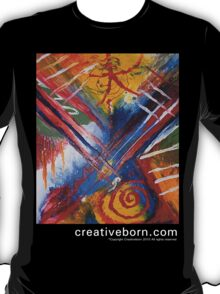 Abstract 9 t-shirt white text T-Shirt