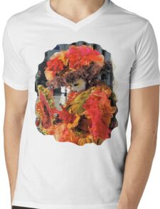 Lady in red Mens V-Neck T-Shirt