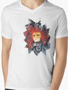 Mask Mens V-Neck T-Shirt