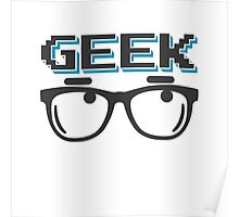 Geek wearing glasses Poster