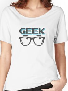 Geek wearing glasses Women's Relaxed Fit T-Shirt