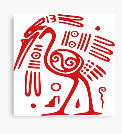 Mexican Mayan  Bird God  Canvas Print