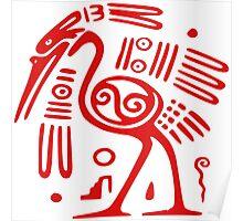 Mexican Mayan  Bird God  Poster