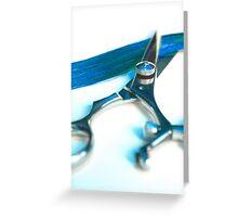 Shear Blue Greeting Card