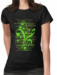 Music Womens Fitted T-Shirt