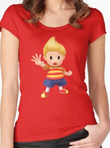 Lucas Super Smash Bros. for Wii U and 3DS Women's Fitted Scoop T-Shirt