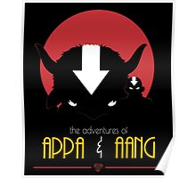 The Adventures of Appa and Aang (Red) Poster