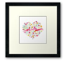 Love finds a way painted flower bouquet Framed Print