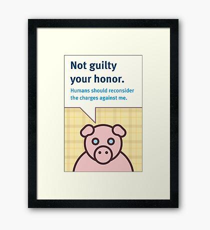 Not Guilty Framed Print