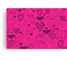 hearts card Canvas Print