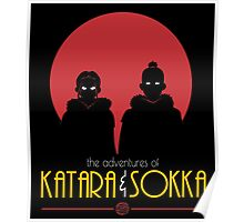 The Adventures of Katara and Sokka (Red) Poster