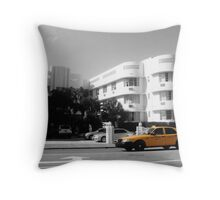 Big Yellow Taxi on Collins Throw Pillow