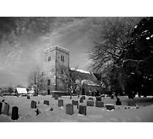 Compton Church in the Snow - Berkshire, UK Photographic Print