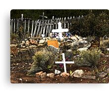 Church Yard at Golden, New Mexico Canvas Print