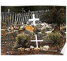 Church Yard at Golden, New Mexico Poster
