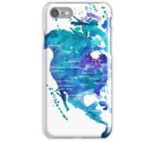 Watercolor Map of North America iPhone Case/Skin