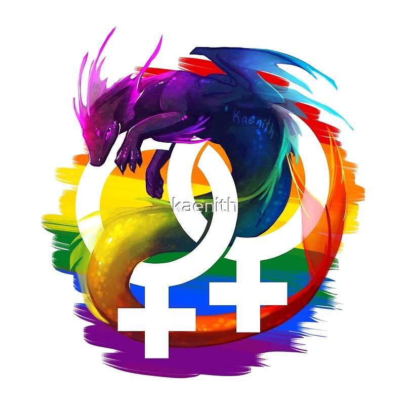 Quot Lesbian Pride Dragon Quot By Kaenith Redbubble