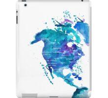 Watercolor Map of North America iPad Case/Skin