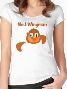 No.1 Wingman | Broken Wing Women's Fitted Scoop T-Shirt
