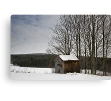 Barn in the quiet Canvas Print
