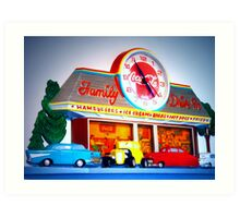 """Drive Into Time Sixties Style"" Art Print"