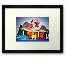 """Drive Into Time Sixties Style"" Framed Print"