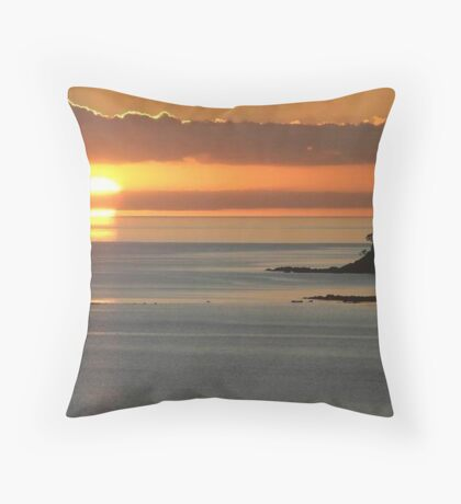 At the end of a beautiful day ! Throw Pillow