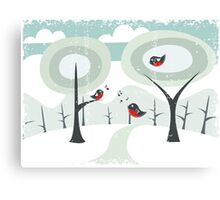 winter card Canvas Print
