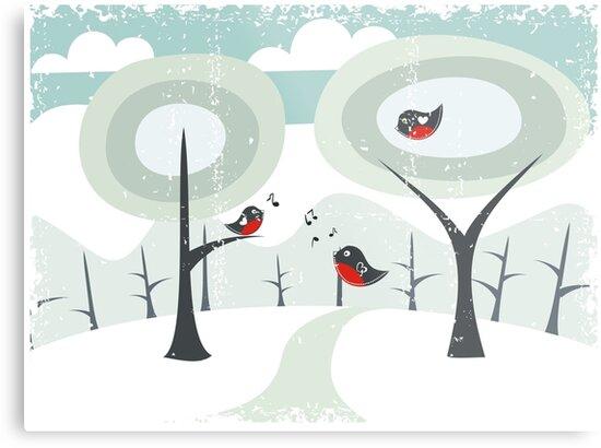 winter card by Anastasiia Kucherenko