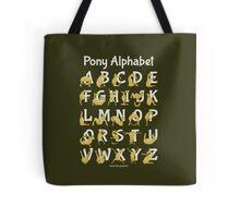 Pony Alphabet, Brown Tote Bag