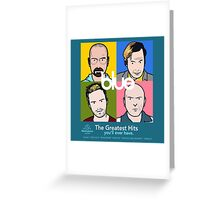 Blue Greatest Hits Greeting Card