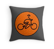 Stickman cyclist Throw Pillow