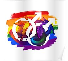 Gay Pride Dragon Poster