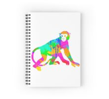 Monkey Silhouette in water colour- Notebook Spiral Notebook