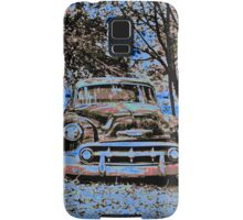 Vintage Decay in Red, White and Blue Samsung Galaxy Case/Skin