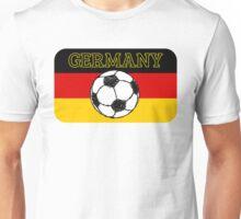 German Flag with Football Unisex T-Shirt