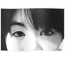 """ Pretty little angel eyes "". Poster"