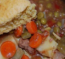 Corn Bread And Crock Pot Hamburger Stew by Jonice