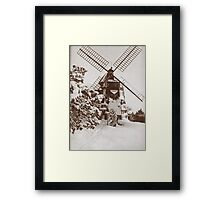 Winter Windmill Framed Print
