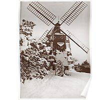 Winter Windmill Poster