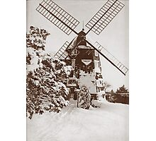 Winter Windmill Photographic Print