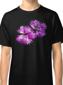Dianthus (T-Shirt), dark, watercolor effect Classic T-Shirt