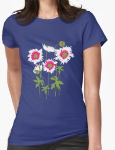 Graphic ragged poppies white pink T-Shirt