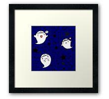 Kawaii Cute Halloween Ghosts Framed Print