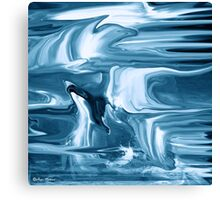 Ocean- Abstract  Art + Products Design  Canvas Print