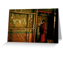 Jokheng Monk Greeting Card